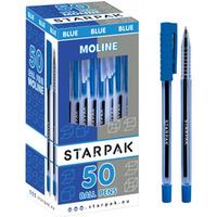 Długopis ze skuwką MOLINE niebieski 352881 STARPAK