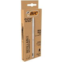 Długopis CRISTAL RENEW metalowy + 2 wkłady czarne 997201 BIC