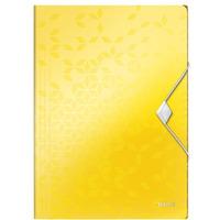 Teczka z gumką PP Leitz WOW, 15mm, żółta 45990016
