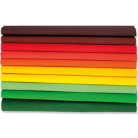 Bibuła marszczona 25 x200cm - JESIEN - MIX 10 kolorów, 10 rolek, Happy Color