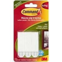 Rzepy 3M COMMAND 4 sztuki średnie białe do wieszania obrazów 17201