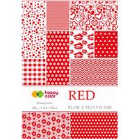 Blok z motywami RED A4 15ark., 30motyw. HAPPY COLOR HA 3808 2030-R