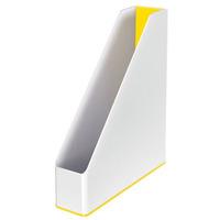 Pojemnik na dokumenty Leitz WOW dwukolorowy, biało-żółty 53621016