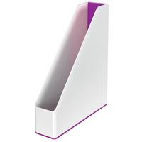 Pojemnik na dokumenty Leitz WOW dwukolorowy, biało-fioletowy 53621062