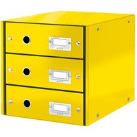 Pojemnik z 3 szufladami Leitz C&S, żółty 60480016