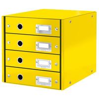 Pojemnik z 4 szufladami Leitz C&S, żółty 60490016