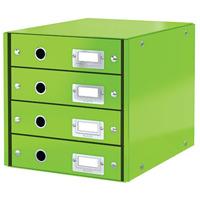 Pojemnik z 4 szufladami Leitz C&S, zielony 60490054
