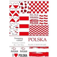 Blok z motywami POLSKA A4 10ark., 10motyw. HAPPY COLOR HA 3808 2030-PL