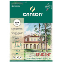 Blok rysunkowy z fakturą STUDENT A4 150g 50ark 400084732 CANSON