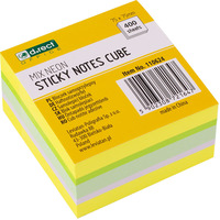 Bloczek samoprzylepny 75x75mm mix neon cytrus/mango 110624 D.RECT