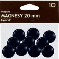 Magnesy 20mm czarne (10szt.) 130-1687 GRAND