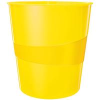 Kosz na śmieci 15L Leitz WOW, żółty 52781016