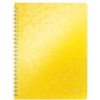Kołonotatnik LEITZ WOW A4 80k PP kratka żółty 46380016