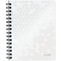 Kołonotatnik w kratkę A5 PP Leitz WOW, biały 46410001