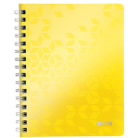 Kołonotatnik w kratkę A5 PP Leitz WOW, żółty 46410016