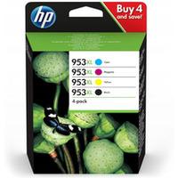 Tusz HP 953XL (3HZ52AE) czarny+niebieski+purpurowy+żółty 4szt