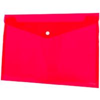 Koperta PP na zatrzask A4 czerwona BT611-C