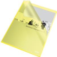 Ofertówki groszkowe A4 115mic (25szt.) żółte 60836 ESSELTE